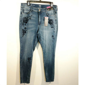 A.N.A sz 16 floral jeggings skinny stretch jeans